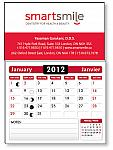Magnetic card with calendar or note pad