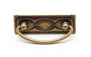 Traditional Brass Pull - 6323 - 38 mm / 108 mm - Oxidized Brass