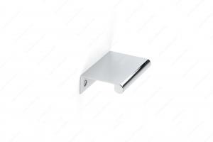 Poignée contemporaine pour rebord en métal - 9696 - 50 mm - Chrome