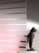 Window Films - Decorative Films - Frosted Films - INT 245 - Stripes of 45 mm