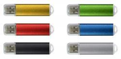 Custom Plastic Metallic Rounded USB Flash Drive W/ Translucent Cap