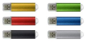 Custom Plastic Metallic Rounded USB Flash Drive W/ Translucent Cap