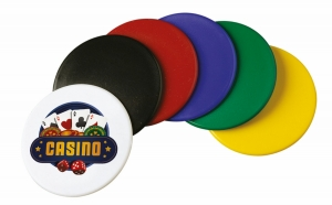 1 5/8 Diameter Plastic Tokens (4 Color Process)