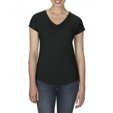 ANVIL - 6750VL - T-Shirt - Triblend Col en V pour femme - 50/25/25 - Noir - X-Small