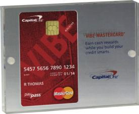 Credit Card Entrapment w/ Plastic or Metal Post Screw (3 3/4x 5x 3/4) (S