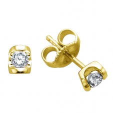 Diamond Stud Earrings in 14K Yellow Gold (0.15 CT. T.W.)