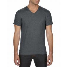ANVIL - 6752 - T-Shirt - T-Shirt à col en V Triblend - 50/25/25 - Gris Foncé Cendré - Small