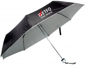 Folding manual mini umbrella in a polyester sleeve #RushExpress72hrs