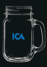 16 Oz. Mason Jar Beer Mug (Deep Etched)