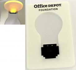 Credit Card Size LED Flashlight w/ Light Bulb