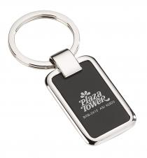 Rectangular chrome & black key holder #RushExpress72hrs