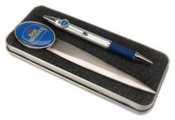 Pen and Opener Set - Domed full color insert and tin box