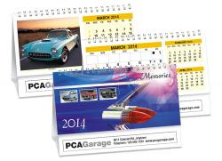 Calendrier de bureau - VOITURES DE COLLECTION - DOUBLE VUE®