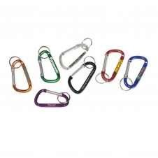 Large Size 8 Cm Carabiner with Split Key Ring