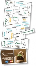 Magnetic Word Set (56 pieces), Digital Full Colour, White Vinyl Topcoat