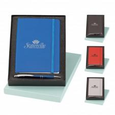 Marina Ballpoint Pen & Classico Vinyl Journal Gift Set