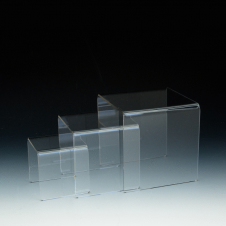 Display Bridges - Set of 3 - Clear durable acrylic