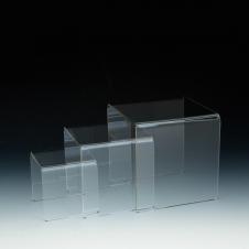 Présentoirs en acrylique - Kit de 3 - Acrylique durable claire