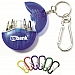Mini 4-in-1 Screwdriver Tool Set with Split Key Ring and Carabiner