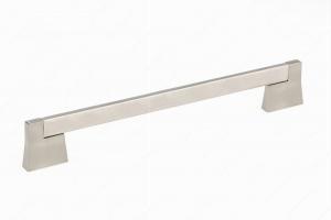 Poignée contemporaine en métal - 8727 - 256 mm - Nickel brossé