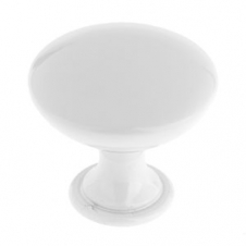 Bouton contemporain en métal - 9041 - 40 mm - Blanc