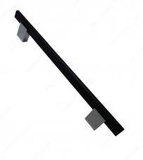Poignée contemporaine en métal et aluminium - 905 - 192 mm - Noir mat / Chrome