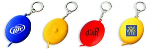 Oval Tape Measure Key Chain