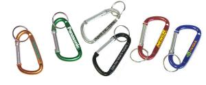 Large Size 7 Cm Carabiner with Split Key Ring