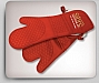 Safety Grip Silicone Oven Mitt w/ Cotton Cuff & Lining