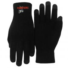 Embroidered Text-Touch Gloves - No Grip Dots