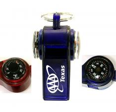 Whistle with Compass / Thermometer and Keychain