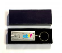Mini Flash Light with Super Bright LED & Swivel Key Chain and Gift Case