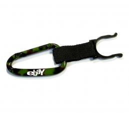 Camouflage Green Carabiner with Water Bottle Holder