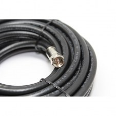 Câble coaxial - RG6 - Avec connecteur type F - 3000mhz - 75 Ohm - 18 awg - CL2 - Noir - 100 pieds