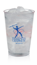 Clear Plastic Cups - rigid wall - 10oz clear tumbler