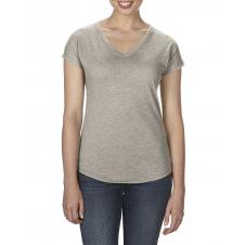 ANVIL - 6750VL - T-Shirt - Triblend Col en V pour femme - 50/25/25 - Ardoise Cendré - Small