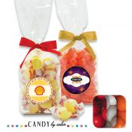 French Bottom Stand Up Bags w/ Bows Filled w/ Gumball