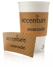 Paper Cup Sleeves/Insulators - kraft dimpled cup sleeve