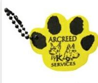 Foam Floating Key Tag - Paw
