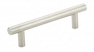 Poignée contemporain en métal - 205 - 96 mm - Nickel brossé
