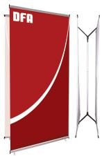 Telescopic 3 - TEL-3 - 39 x 60.25 à 89 - Stand-bannière écono non-rétractable double côté - Sac inclus