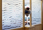 Window Films - Decorative Films - Frosted Films - INT 288 - Waves of 45 mm
