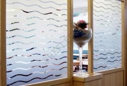 Film pour vitres - Films décoratifs - Films dépolis - INT 288 - Vagues de 45 mm