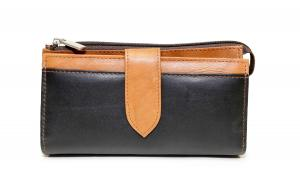 Dulcina Ladies' Companion Bag w/ Checkmate - Color Blocking Black/ Tan