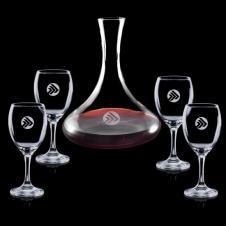 48 Oz. Yorkville Carafe and 4 Wine Glasses