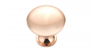 Contemporary Metal Knob - 9041 - 30 mm - Polished Copper