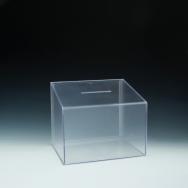 Boîte concours/vote - inclinée - 11,5 W x 9,5 H x 8,5 D - Claire