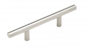 Contemporary Metal Pull - 305 - 128 mm - Brushed Nickel