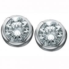 Diamond Stud Earrings in 14K White Gold (0.10 CT. T.W.)