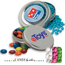 Solid Circular Tin- Chocolate Button Candy by Color